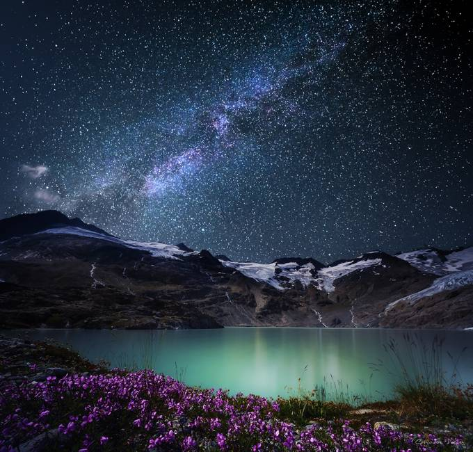 2176 m.ü.M by CmoonView - Nature At Night Photo Contest