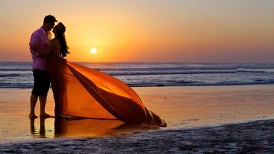 Bali Beach Sun Set