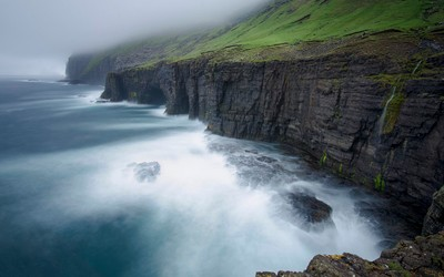 cliffs of suduroy - faroe islands
