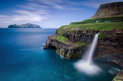 gasadalur waterfall - the faroe islands
