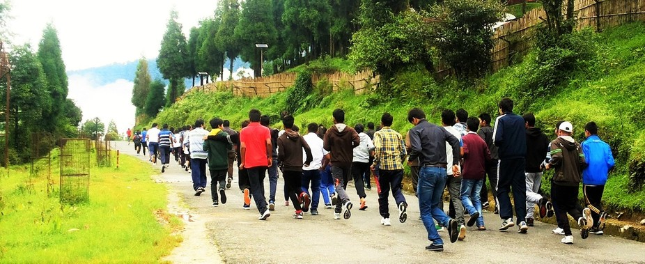 Marathon on the occasion of Independence Day at NIT Sikkim