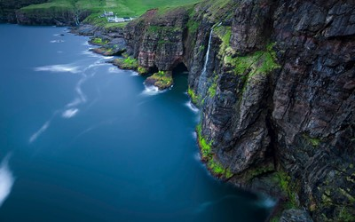 Cliffs of Vidareidi village - Faroe Islands