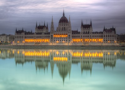 Parliament Building At Dawn