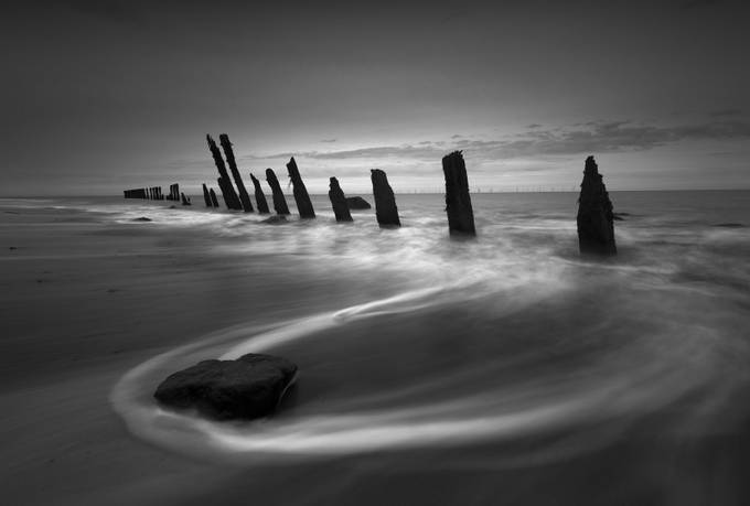 First light, Spurn Point, East Yorkshire by gilesrrocholl - The Water In Black And White Photo Contest