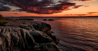 Sunset over Mount Desert Island, Maine