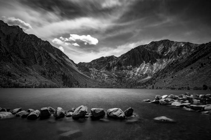 Convict Lake by BensViewfinder - Black And White Mountain Peaks Photo Contest