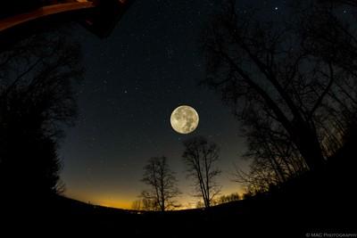 Farm Sky and Moon