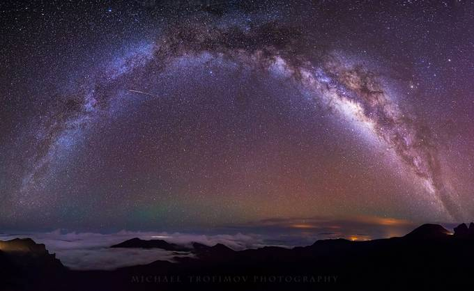 Galactic Rainbow by michaeltrofimov - Nature And The Night Photo Contest