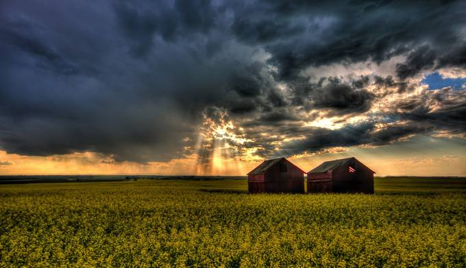 Two Barns by adolwyn - Monthly Pro Vol 24 Photo Contest