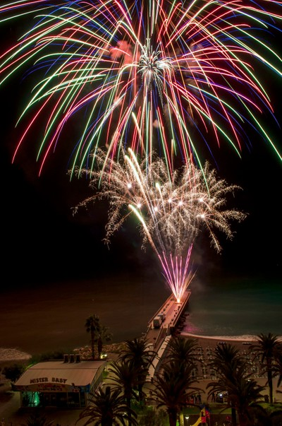 Fireworks in Pietra Ligure