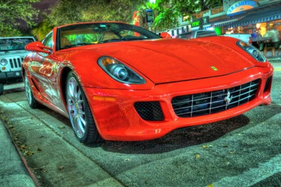 Sport cars of South Beach be in the lime light.....