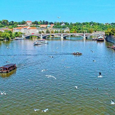 I took this photo when we visited the wonderful city of Prague in 2011. Me and my family visited some friends there.  I took this photo from Charles Bridge.
