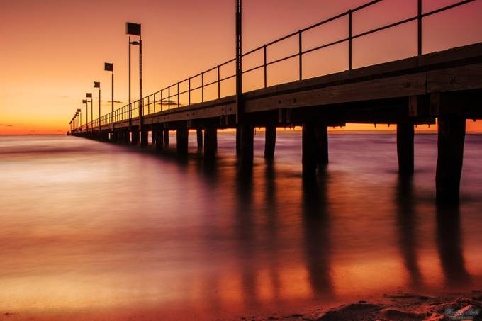 Frankston Pier At Sunset by maddyfield - Composing with Diagonals Photo Contest