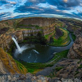 Fish eye view of Palouse waterfall