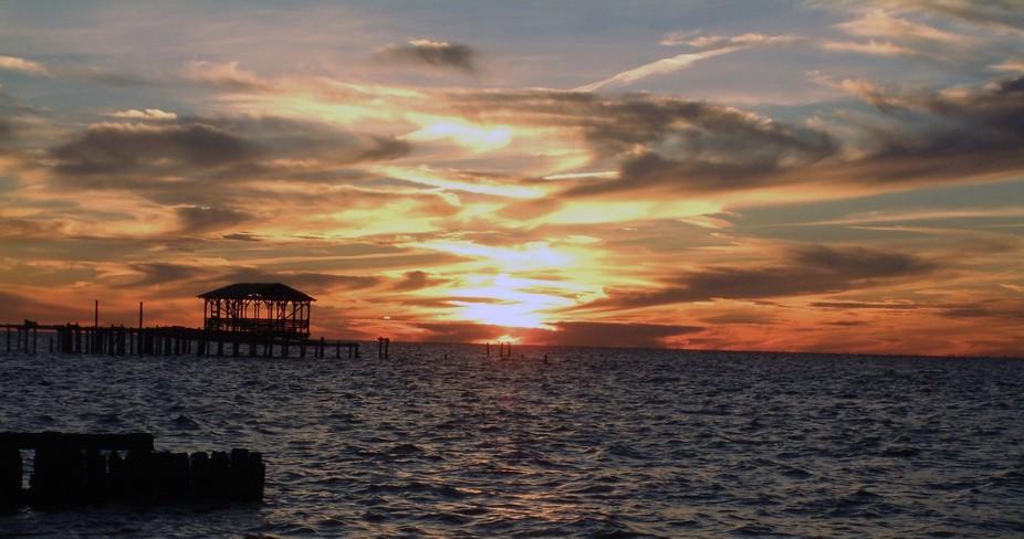 Mobile Bay, near Fairhope Alabama pier
