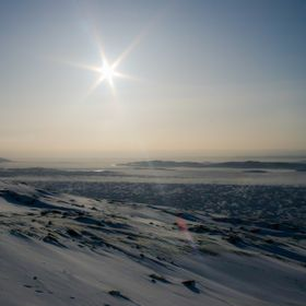 A look out over Frobisher Bay in February 2012