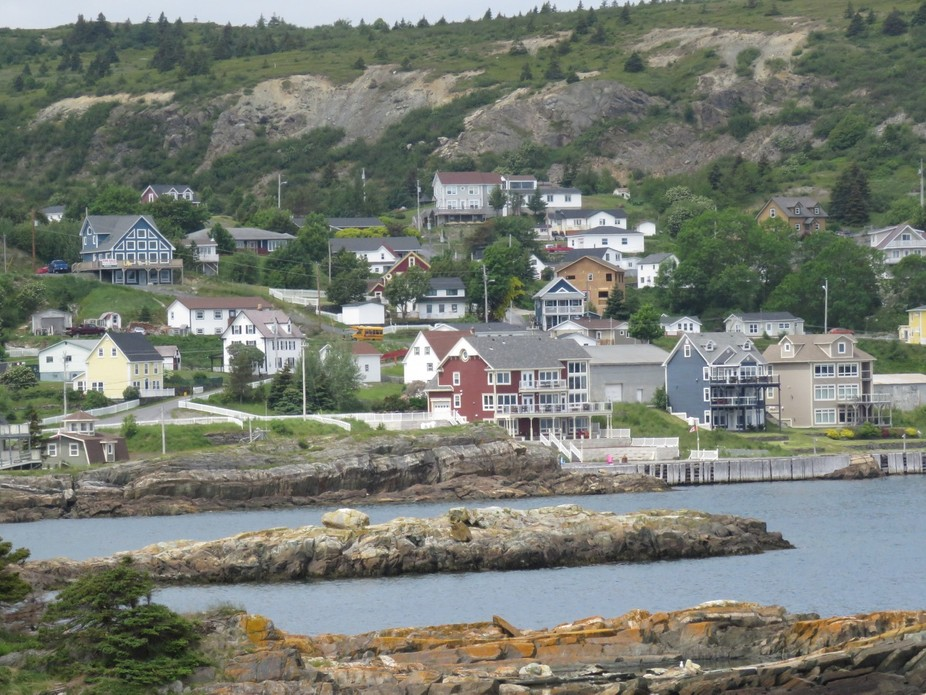I love the mix of old and new homes in Brigus, Newfoundland