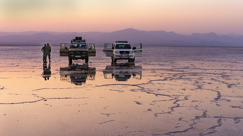 North-eastern Ethiopia contains one of the great natural wonders of the world, the salt flats of ...