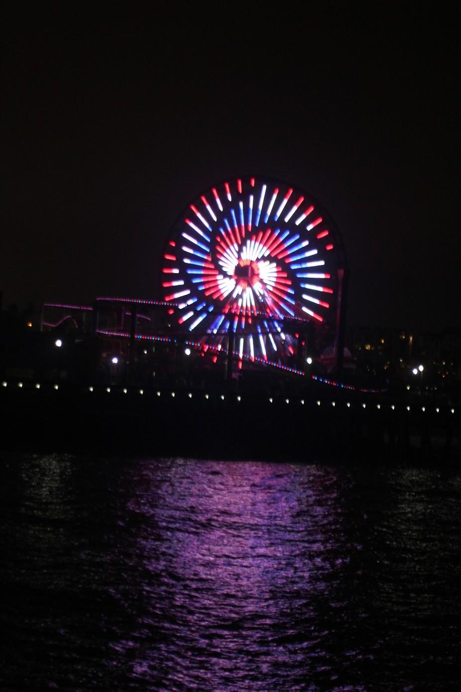 Pier at night.