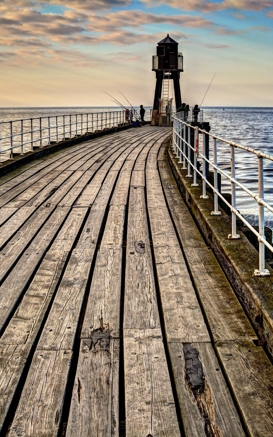 Evening Pier Fishing - Whitby, Yorkshire by A_B_digital - Fences Photo Contest