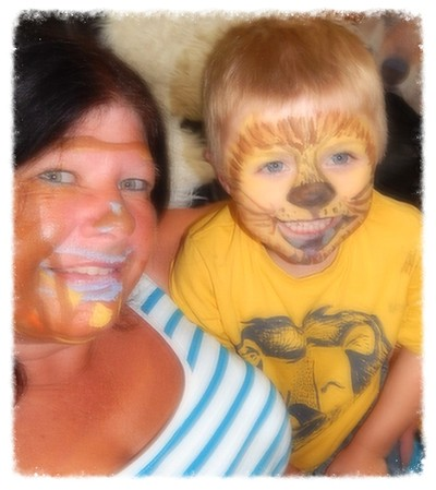 facepainting with Jack