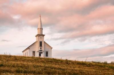 Little Church at Sunset