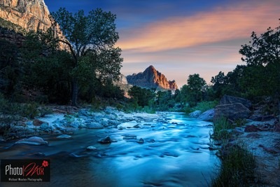 Zion Virgin River and Watchman