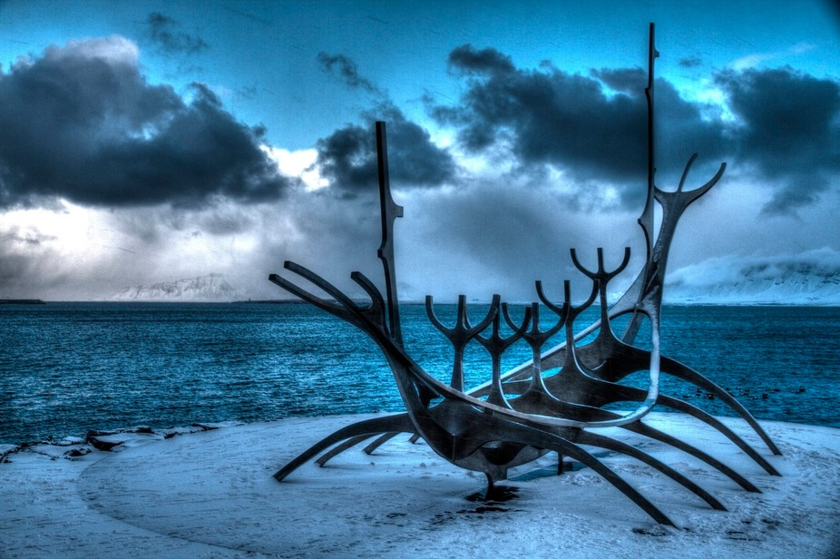 The Sun Voyager (Icelandic: Sólfar) is a sculpture by Jón Gunnar Árnason located by Sæbraut, ...