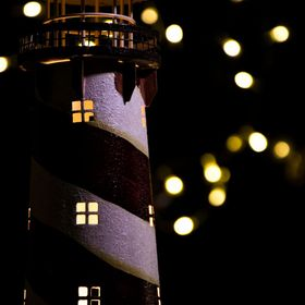 starry night at the light house