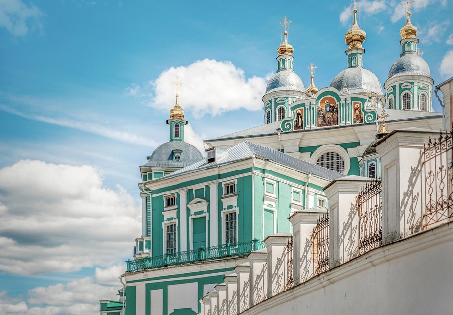 Well-known Russian Sacred Assumption Cathedral of the city of Smolensk.