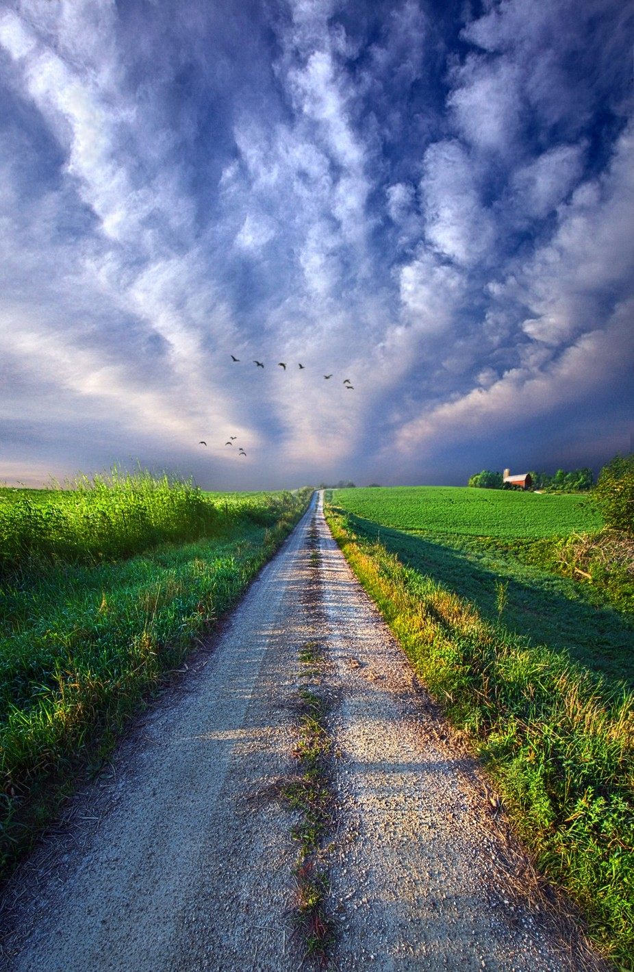 Take a Right at the Barn by phil1 - Country Roads Photo Contest