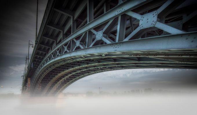 Theodor-Heuss-Brücke in Mainz by olesteffensen - Mist And Drizzle Photo Contest