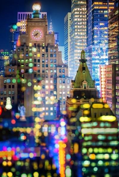 New York City Double Exposure Bokeh - Elle Bruce