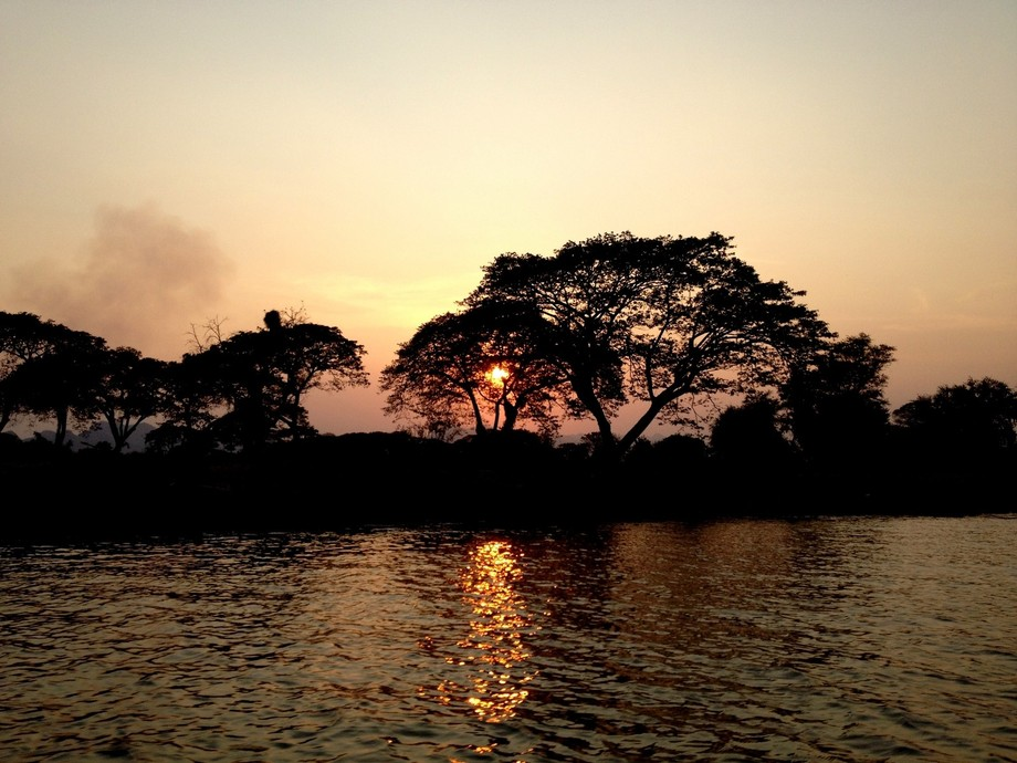 A Sunset so Serene...it simply soothes the mind...!! — at ร้านอาหารคีร�...