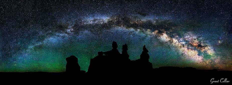 {caption for night photography article] The rock formations in Goblin Valley, Utah were a long wa...