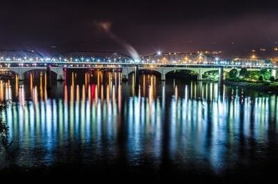 Pedestrian Bridge Loaded with Colors