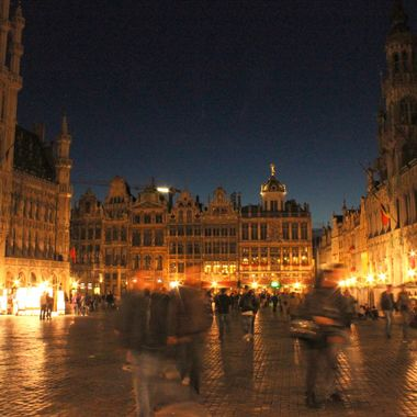 I took this photo while I was in Brussels with my family in the year 2012.  This is a night view from Grand Place, in Brussels.