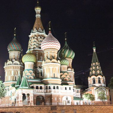 I took this photo when me and my family went on a boat cruise, on the Volga River, in the year 2013.  The city of Moscow was our final destination and I took this photo during the night.