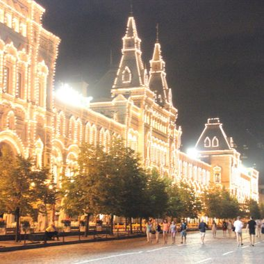 I took this photo when we were on a boat trip on the Volga River, in the year 2013.   I took this photo in the Red Square while we were site seeing in Moscow.