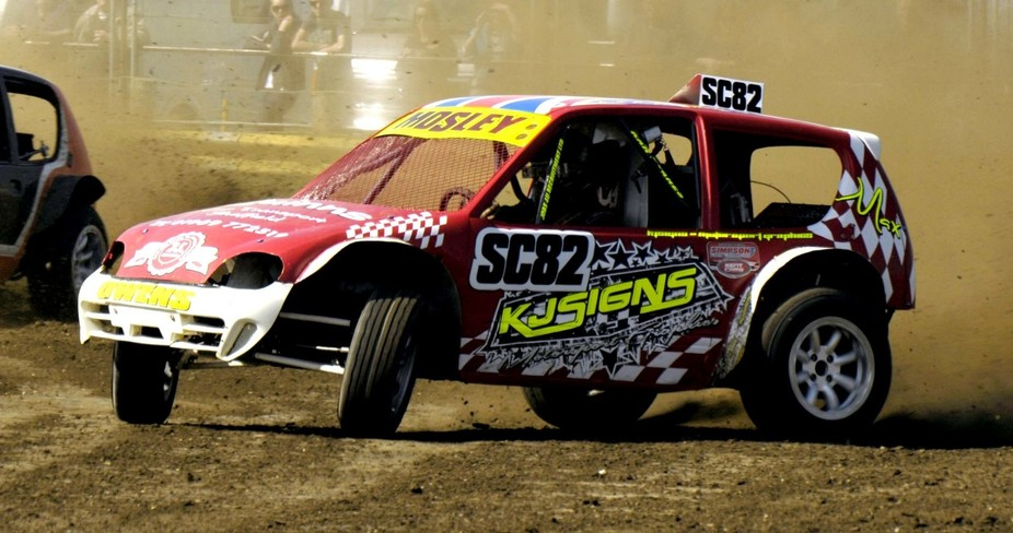 A Class 7 Autograss race car. These cars run one or two superbike engines and are a spectacular c...