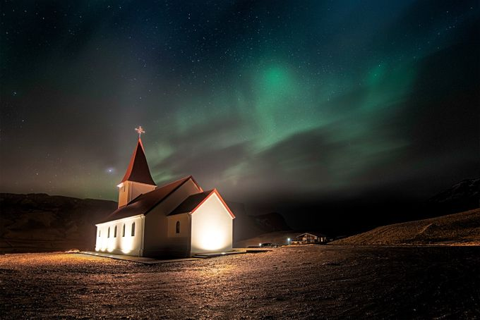 Aurora In Vik by lucalibralato - Landscapes Of Iceland Photo Contest