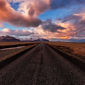 I love taking pictures of roads and Iceland is a literally a paradise for this, because every road has an awesome background.  And when there is ...