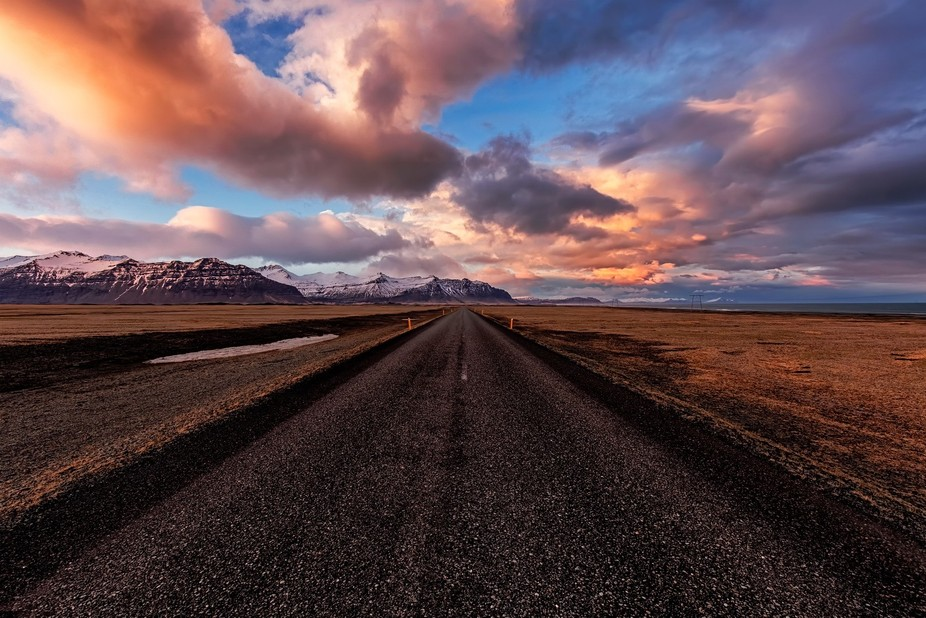 I love taking pictures of roads and Iceland is a literally a paradise for this, because every roa...