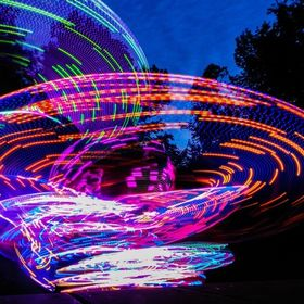 A very talented LED hula hooper on the 4th of July.