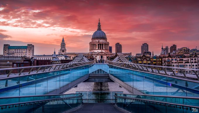 St Pauls from the Millennium Bridge by miommi - Classical Architecture Photo Contest