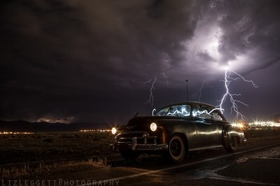 Light Painting, Lightning and Luck- Liz Leggett Photography