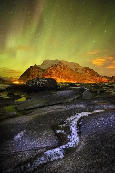 Utakliev aurora, Lofoten, Norway