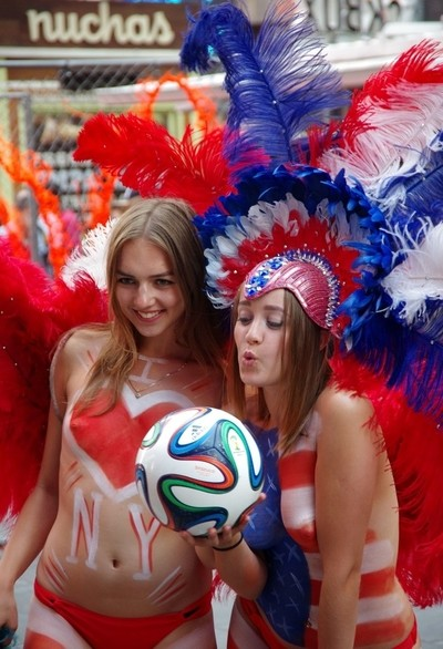 Girls in Feathers - Soccer Fans