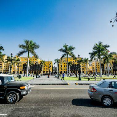 view of Plaza de armas of Lima-Peru