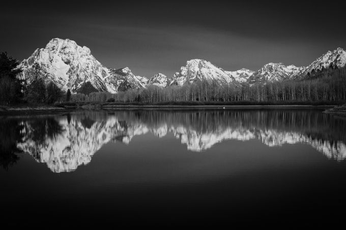 Grand Teton Reflexion by JADUPONT - Landscapes In Black And White Photo Contest